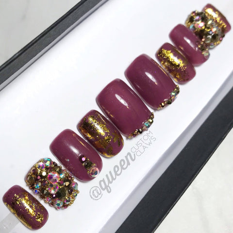 Gold & Bling press on nails