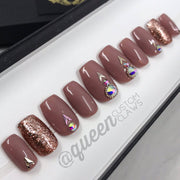 Rose Gold Crush, press on nails