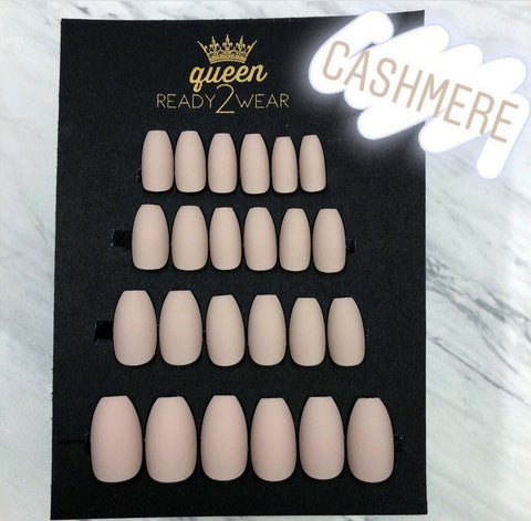 Ready2Wear | Coffin Matte Pinks Press-on nails