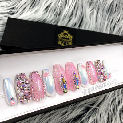 Harajuku Princess Bling press on nails