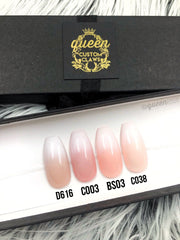 Studded Baby Boomer pink & white Ombre- press-on nails
