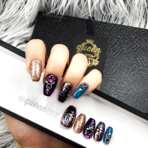 Autumn Rose Press on Nails