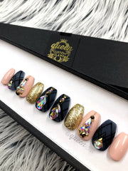 Black Swan Sparkle Press on Nails