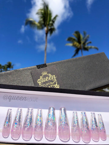 HoloTop Holographic press on jelly nails