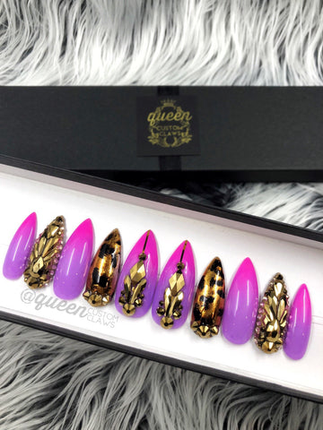 Pretty Kitty Bling press on nails