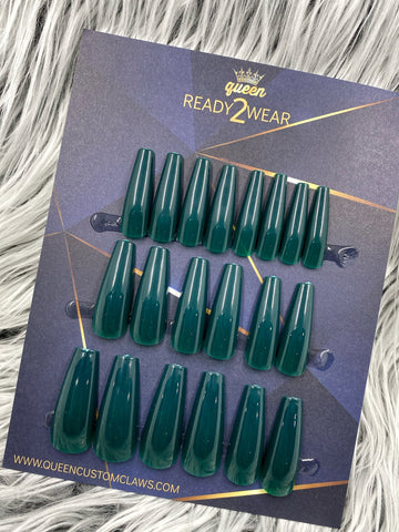 Ready2Wear | Peacock : Xtreme coffin Press-on nails
