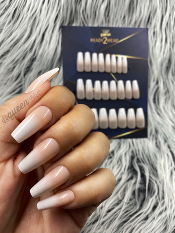 Ready2Wear | French Ombré: Sculpted Coffin Press-on nails