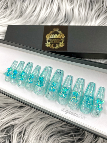 Jelly Bears - clear jelly press on nails