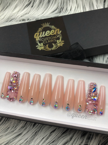 Sweetie Pie- Bling press on nails
