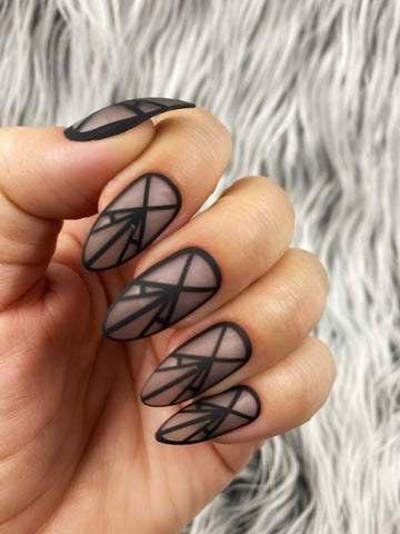 Ready2Wear Prints | Dominatrix  : almond Press-on nails