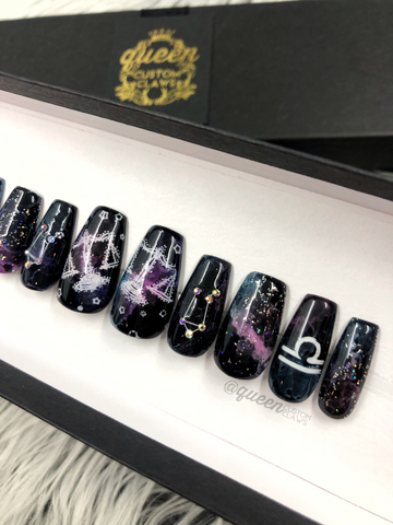 Zodiac Galaxy press on nails