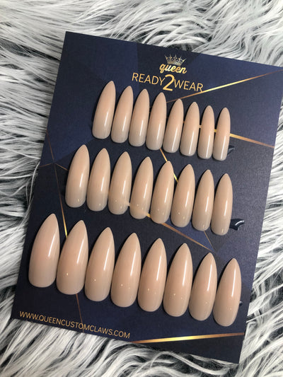 Ready2Wear | Barely There  : long shiny Stiletto Press-on nails