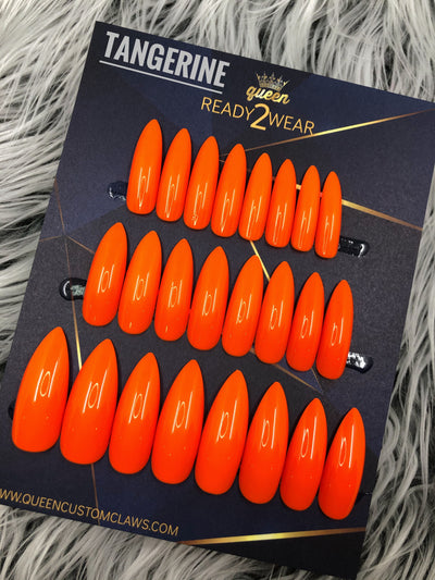Ready2Wear | Tangerine: long Stiletto Press-on nails