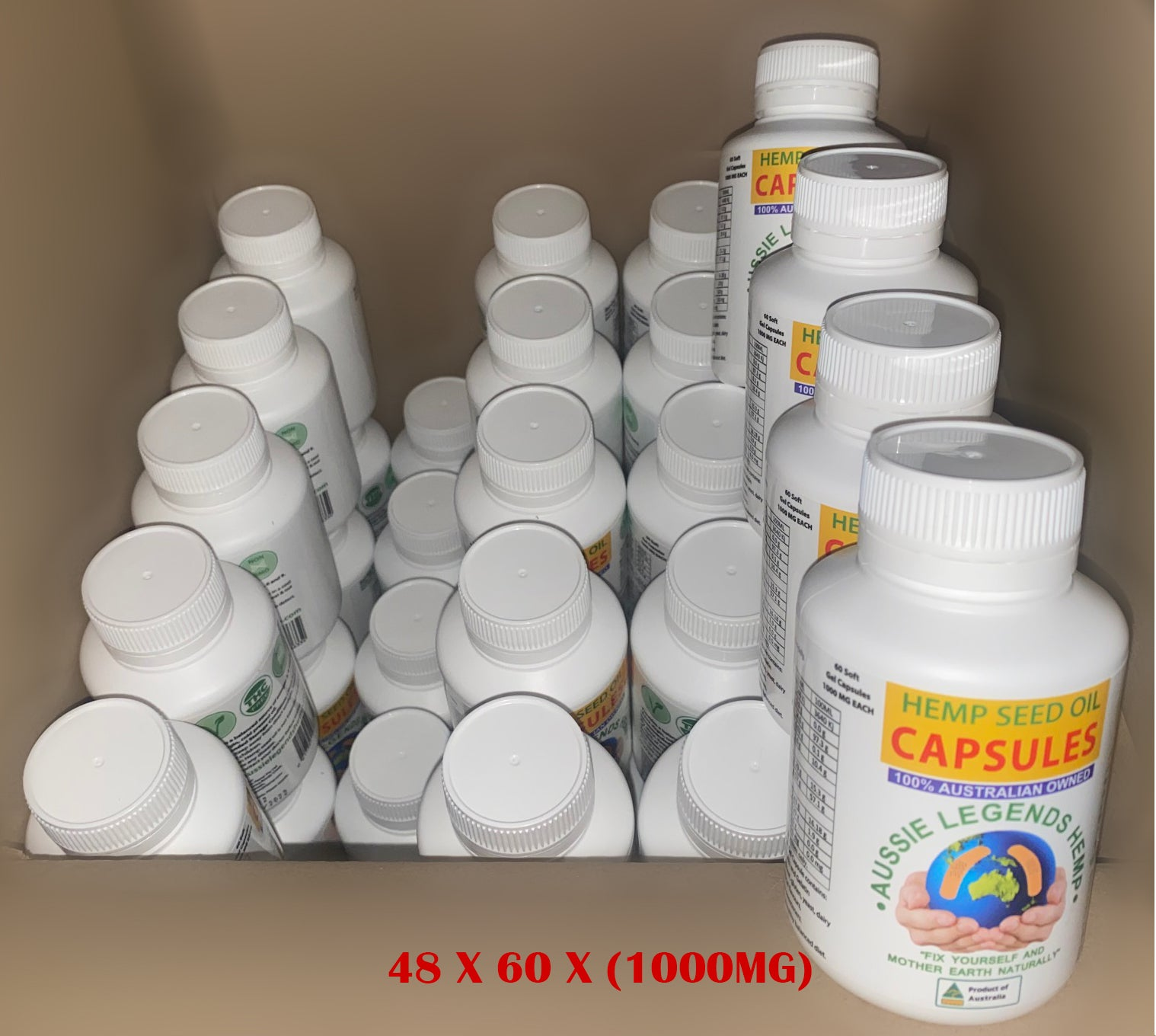 FULL BOX - CAPSULES - 48 x BOTTLES OF 60 CAPSULES