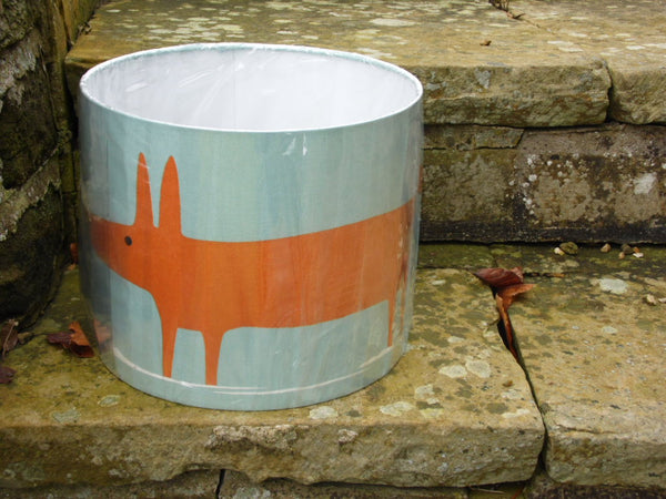 30cm lampshade in Scion Fox, duck egg blue