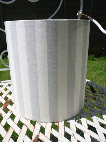 25cm Lampshade Summer Stripe in Seamist by Peony and Sage