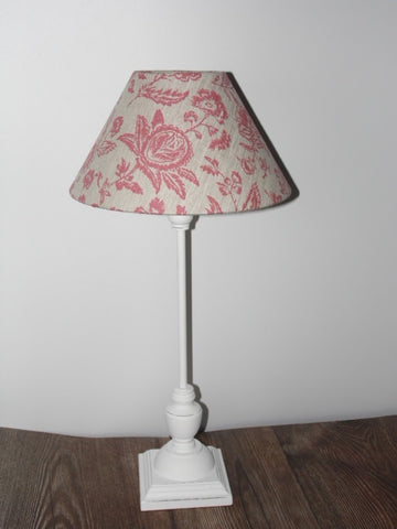 Stunning slim lamp base  in a white slightly distressed finish