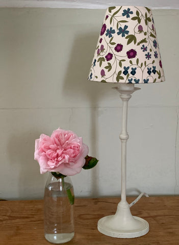 Candle  Clip Lampshade in A fun Liberty fabric