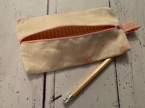 Handmade pencil case in Busy bees by Peony and Sage