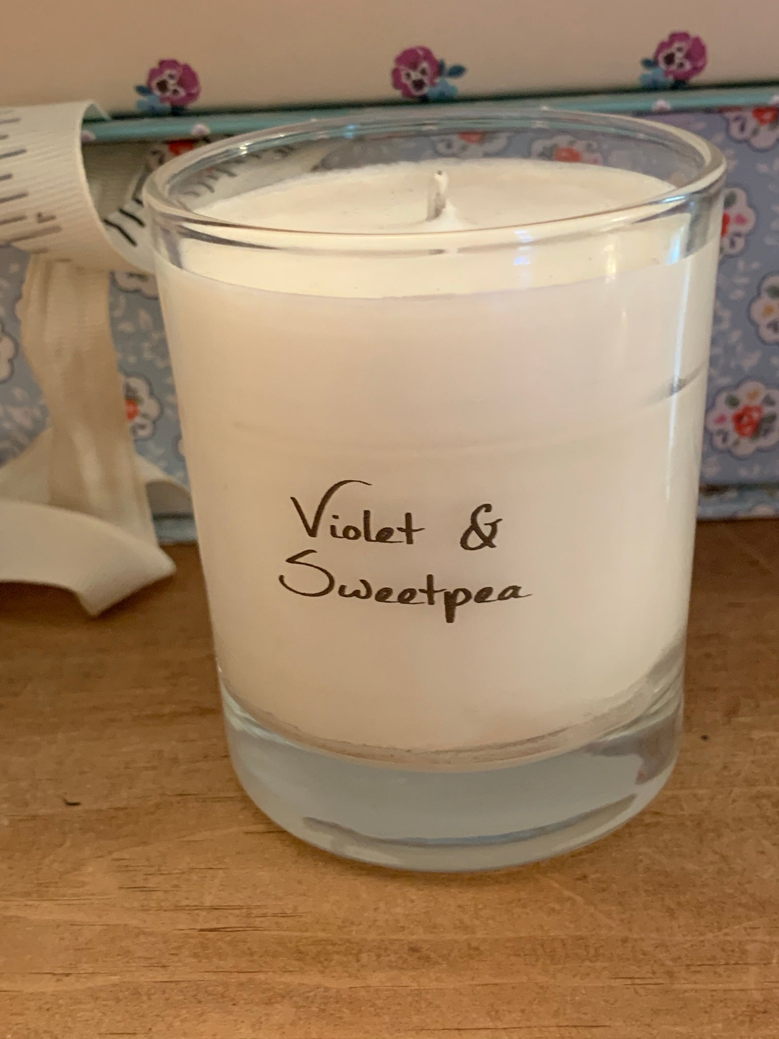 Violet and Sweet Pea Candle