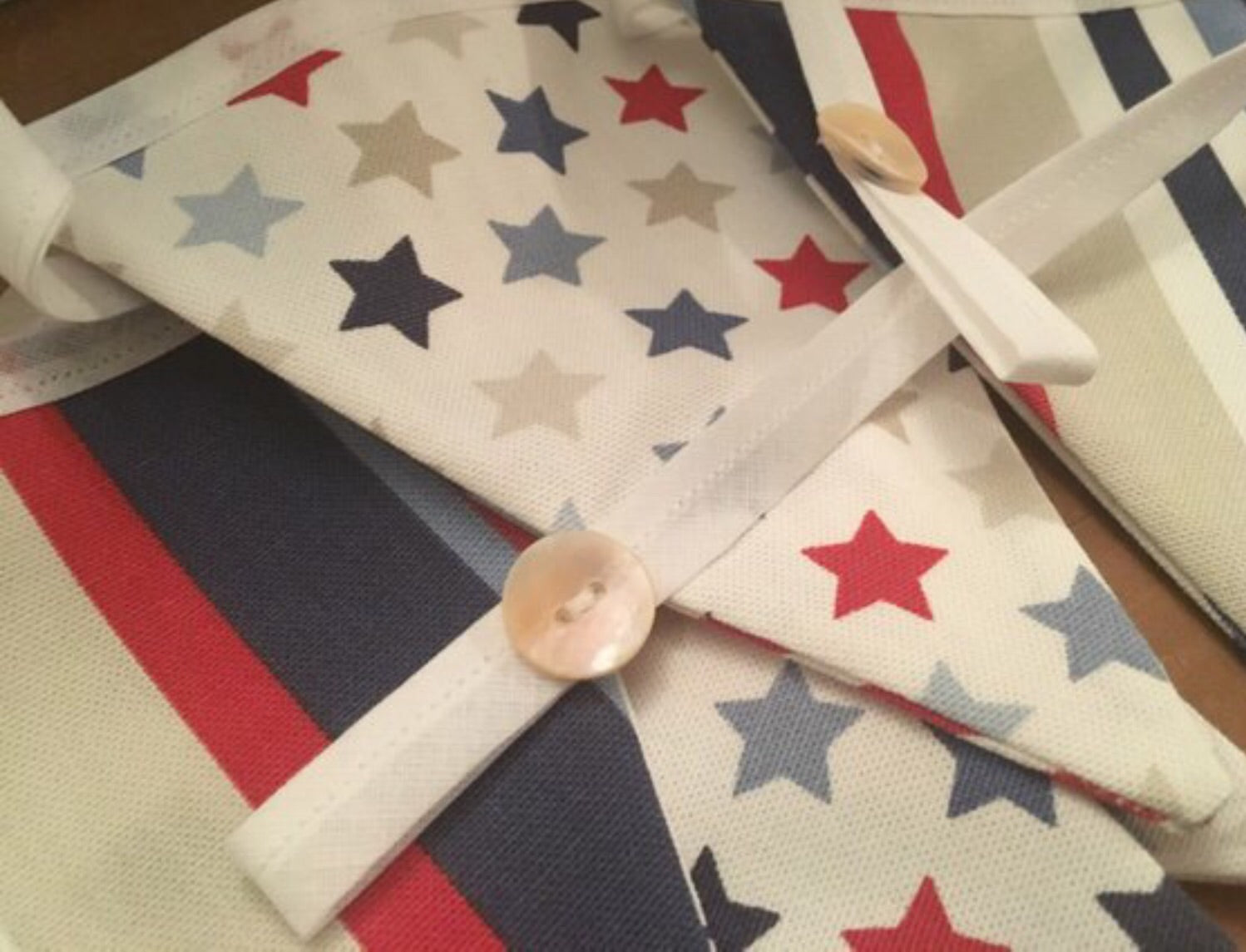 Bright Stars and Stripes bunting