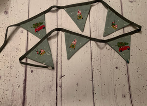 Handmade Christmas Bunting  in Sophie Allport 'Home for Christmas' 6 flags