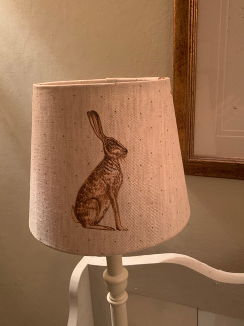 Beautiful tapered Lampshade in Peony and Sage Mr Hare