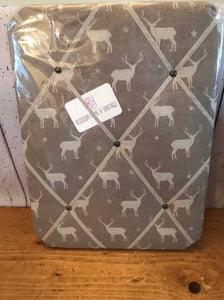 Small Memo board in Peony and Sage Truffle Stags