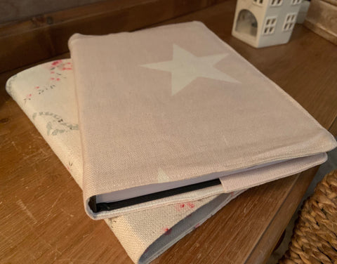Peony and Sage Pink Big Star fabric covered 2021 diary