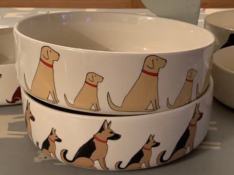 Large sweet William Dog Bowl