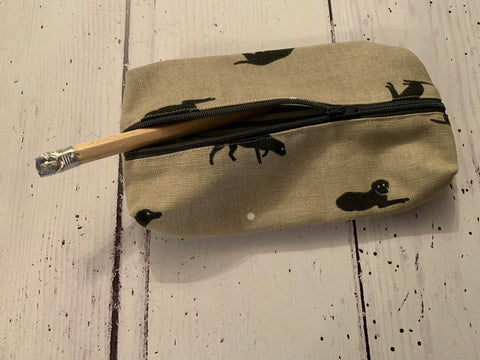 Handmade pencil case in Labrador  by Sophie Allport
