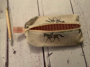 Handmade pencil case in Horses by Sophie Allport
