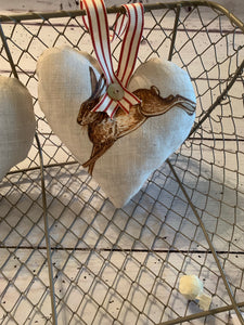 Lavender Heart in French Hare by Peony and Sage