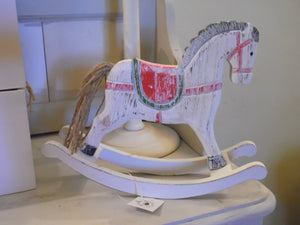 Wooden Rocking horse Christmas Decoration