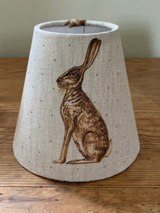 Candle  Clip Lampshade in Mr Hare by  Peony and Sage