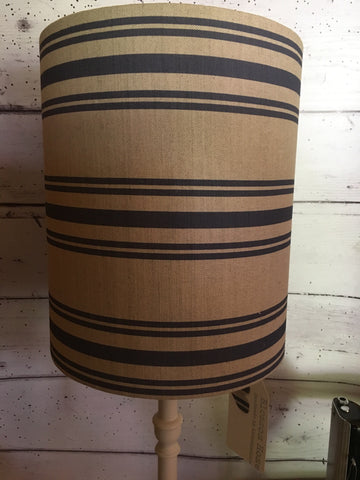 Stunning stripe lampshade 25cm diameter in Dorset Stripe