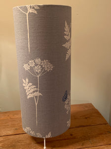 Beautiful Cylinder lamp ,Cow Parsley In Duck Egg by Vanessa Arbuthnott