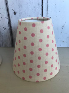 Candle clip lampshade in Spotty by Sarah Hardaker in Ballerina