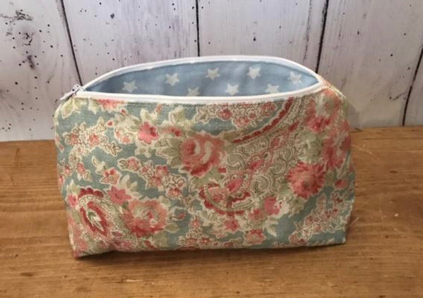 Handmade make up bag in Paisley by Sarah Hardaker