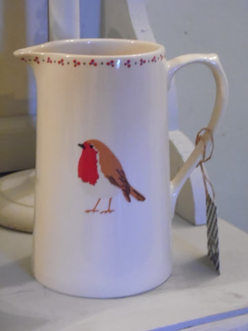 Christmas Robin large jug