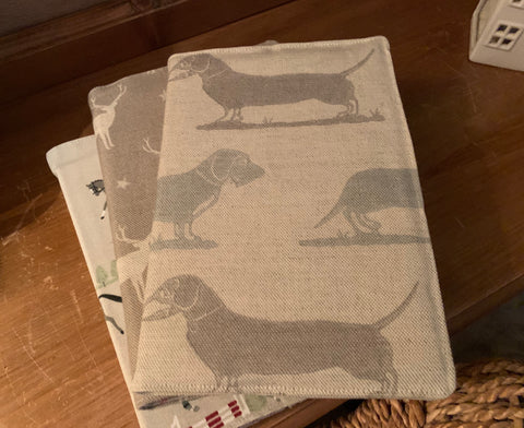 Beautiful fabric covered 2021 in Elanbach Dachshund fabric
