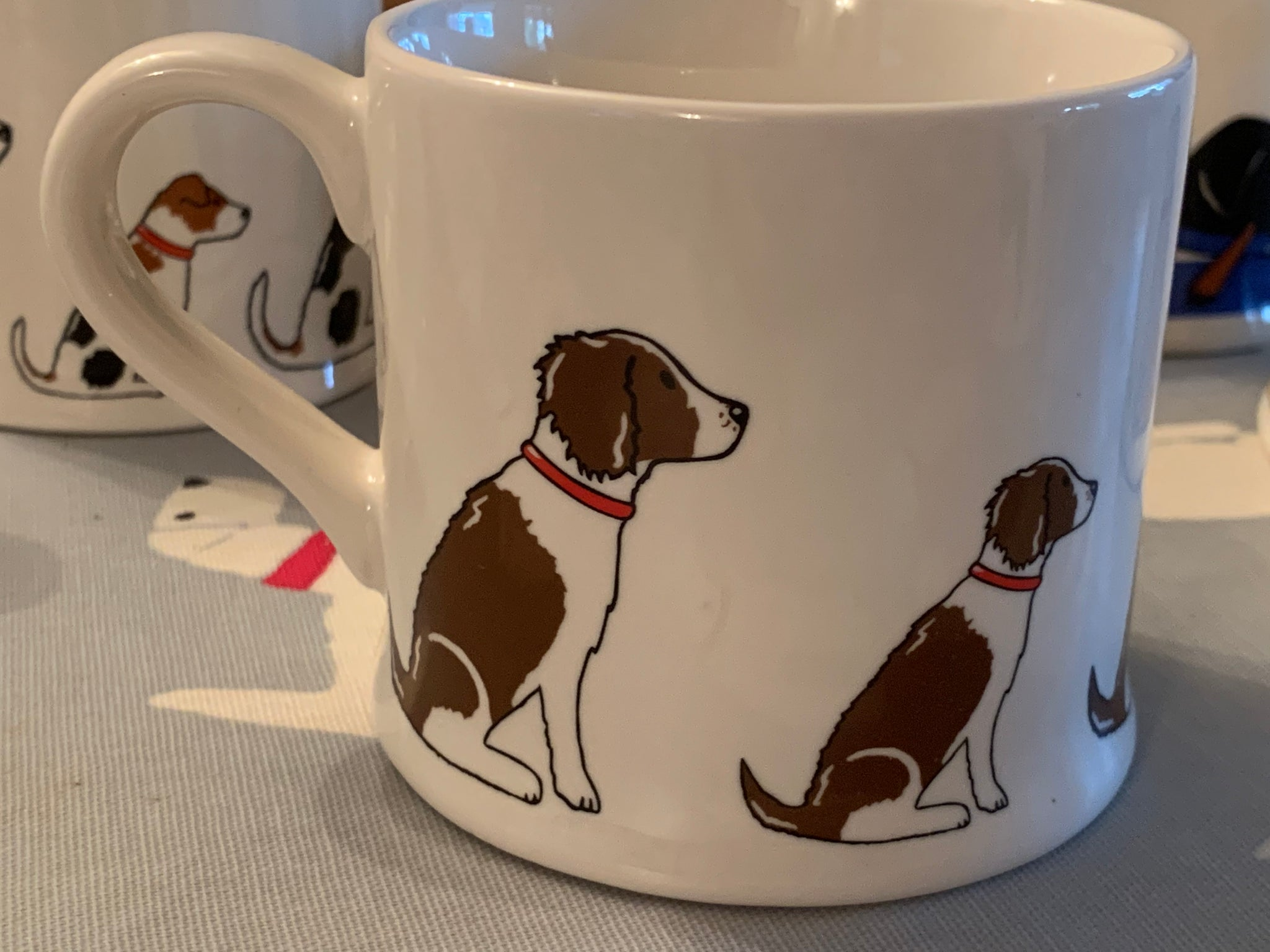 Brown and White Springer Spaniel  mug by Sweet William designs
