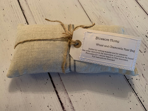 Wheat & Chamomile heat /cold Pack in Ticking by Peony and Sage