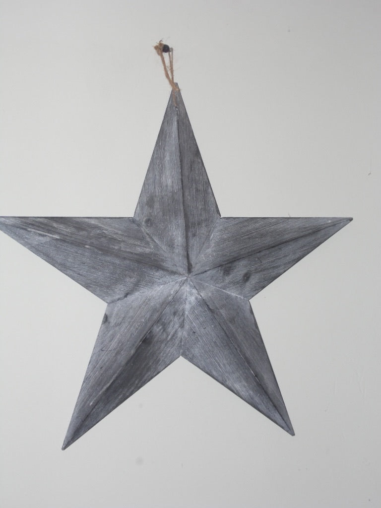 Large wooden Star , grey washed