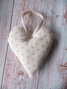 Pretty lavender infused in pale green spotty by Sarah Hardaker
