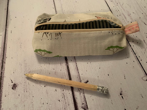 Handmade pencil case in Safari  by Sophie Allport