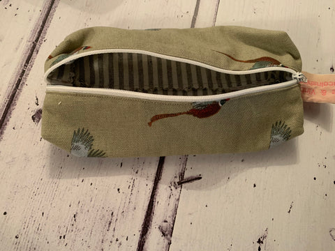Handmade pencil case in Pheasants by Sophie Allport
