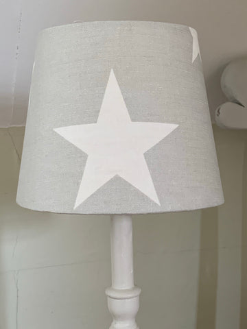 Stunning tapered Lampshade Peony and Sage Big Star in Gustavian Grey