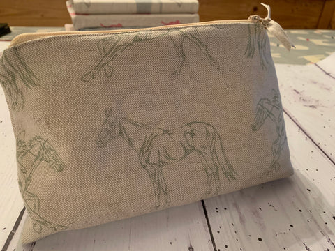 Cosmetics /Make up  bag in Robin Roadnight Newmarket fabric