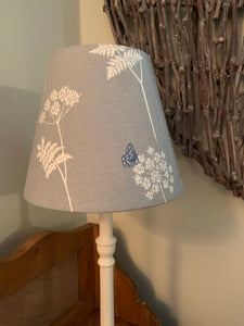 Beautiful tapered lampshade in Vanessa Arbuthnott Cow Parsley in the Duck egg colourway